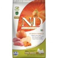 N&D Grain Free Adult Mini Mistret, Mar si Dovleac, 2.5 Kg