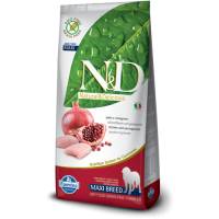 N&D Grain Free Adult Maxi Pui si Rodie, 12 kg