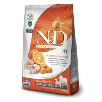 N&D Grain Free Adult Medium si Maxi Cod, Portocala si Dovleac, 2.5 Kg