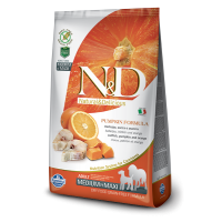 N&D Grain Free Adult Medium si Maxi Cod, Portocala si Dovleac, 12 Kg