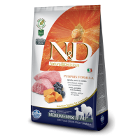 N&D Grain Free Adult Medium si Maxi Miel, Afine si Dovleac, 2.5 Kg