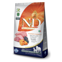 N&D Grain Free Adult Medium si Maxi Miel, Afine si Dovleac, 12 kg