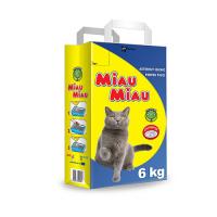 Pachet 4 x Nisip Miau Miau Clumping, 6 kg