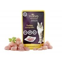 Pachet Plicuri Nuevo Cat Adult Sensitive cu Curcan 20 x 85 g