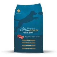 Nutra Gold Grain Free cu Peste si Cartofi 13.6 Kg