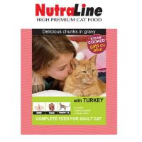 Plic Pisica Nutraline Classic Curcan, 100 g