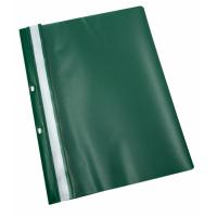 Dosar plastic cu sina, cu gauri, 10 buc/set, Optima - verde