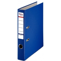 Biblioraft A4, plastifiat PP/paper, margine metalica, 50 mm, Optima Basic - albastru