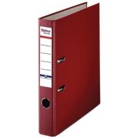 Biblioraft A4, plastifiat PP/paper, margine metalica, 50 mm, Optima Basic - visiniu