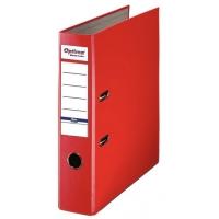 Biblioraft A4, plastifiat PP/paper, margine metalica, 75 mm, Optima Basic - rosu*