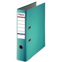 Biblioraft A4, plastifiat PP/paper, margine metalica, 75 mm, Optima Basic - turqoaz