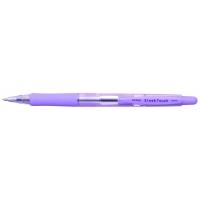 Pix PENAC Sleek Touch, rubber grip, 1.0mm, accesorii violet pastel - scriere albastra