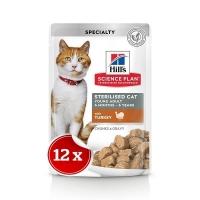 Pachet 12 buc x Plic Hill's SP Feline Young Adult Curcan, 85 g