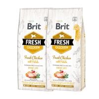 Pachet 2 x Brit Fresh Chicken and Potato Adult 12 kg