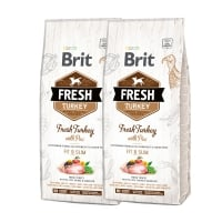 Pachet 2 x Brit Fresh Turkey and Pea Light Fit and Slim 12 kg
