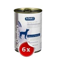 Pachet 6 Conserve Dr. Clauder's Diet Dog Derma, 400 g
