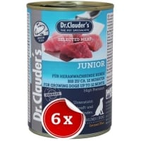 Pachet 6 Conserve Dr. Clauder's Selected Meat Junior, 400 g