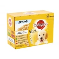 Pachet Mix Hrana Umeda Pedigree Junior, 12 x 100 g