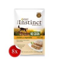 Pachet True Instinct Cat No Grain Pui si Legume, 8x70 g