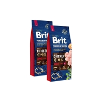 Pachet 2 x Brit Premium by Nature Adult L, 15 kg