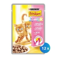 Pachet Plicuri Friskies Cat Junior cu Pui 12 x 100 g