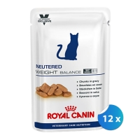 Pachet Plicuri Royal Canin Neutered Weight Balance Cat, 12 x 100 g