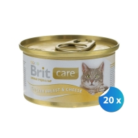 Pachet Brit Care Piept de Pui si Branza 20 x 80 g