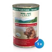 Pachet Bewi Dog Carne de Vita in sos 5 x 1.2 kg