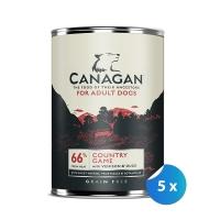 Pachet Conserve Canagan Dog Grain Free Vanat 5 x 395 g