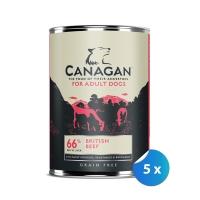 Pachet Conserve Canagan Dog Grain Free Vita 5 x 395 g