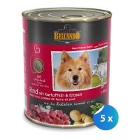 Pachet Conserve Belcando Vita Cartof si Mazare 5 x 800 g