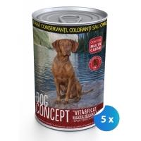 Pachet Conserve Dog Concept Vita si Ficat 5 x 1240 g