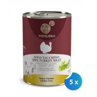 Pachet Conserve Equilibria Dog Single Protein Curcan 5 x 410 g