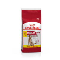 Royal Canin Medium Adult 7+, 15 kg + 3 kg Gratis