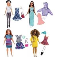 Papusa Barbie Fashionista Cu Haine De Schimb Diverse Modele