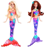Papusa Barbie Sirena Stralucitoare Diverse Modele