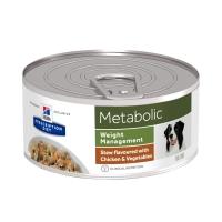 HILL'S Prescription Diet Metabolic, Pui cu Legume, conservă hrană umedă câini, managmentul greutății, 156g