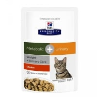 HILL'S PD FELINE METABOLIC & URINARY, PLIC 85 G