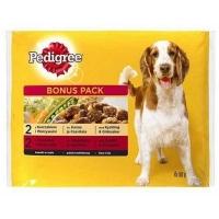 Pedigree Multipack, Hrana umeda pentru caini Adulti, cu Vita, Miel si Curcan, 4 x 100 g