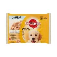 Pedigree Multipack Junior pui si orez/vita si orez 4 x 100 g