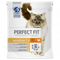 Perfect Fit Cat Sensitive cu Curcan, 750 g