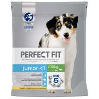 Perfect Fit Dog Junior Medium/Large cu Pui, 1.4 kg