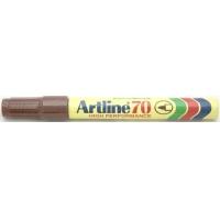 Permanent marker varf rotund, 1.5mm, corp metalic, ARTLINE 70 - maro