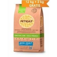 Petkult Maxi Adult Senzitiv Miel si Orez 12 kg + 2 kg GRATIS