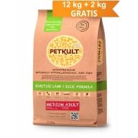 Petkult Medium Adult Senzitiv Miel si Orez 12 kg + 2 kg GRATIS