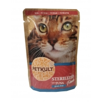 Petkult Cat Sterilized cu Ton, 100 g