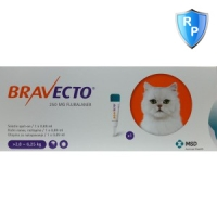 Bravecto Spot On Cat 2.8-6.25 kg, 250 mg, 1 pipeta