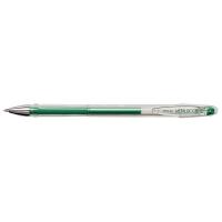 Pix cu gel PENAC FX-3 Metalic, 0.8mm, con metalic, corp transparent - scriere verde metalizat