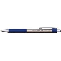 Pix metalic cu rubber grip, PENAC Pepe - accesorii negre - scriere albastra