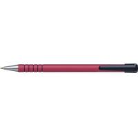 Pix PENAC RB-085B, rubber grip, 0.7mm, varf metalic, corp rosu - scriere rosie